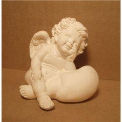 Фигура Ангел задумчивый 60x65x65мм